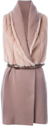 Liska cashmere paneled knitted vest $2,900 thestylecure.com