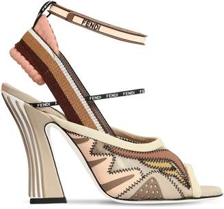 Fendi 105mm Mesh & Neoprene Sandals