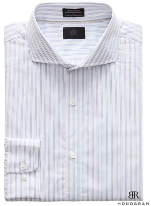 Banana Republic Monogram Grant Slim-Fit Italian Cotton Stripe Dress Shirt