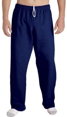 Gildan Mens Open Bottom Pocketed Jersey Pant
