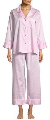 Natori Leopard-Print Two-Piece Pajama Set, Blue
