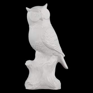 URBAN TRENDS COLLECTION Urban Trends Collection: Porcelain Owl Figurine, Matte Finish, White