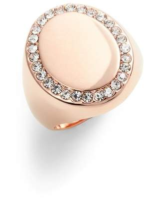 Vince Camuto Pav? Oval Signet Ring