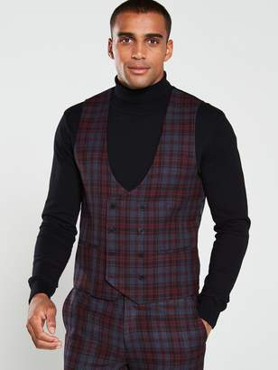 Garfield Red Check Wcoat