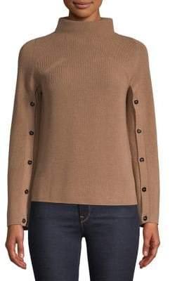 Marella Button Sleeve Wool-Blend Sweater