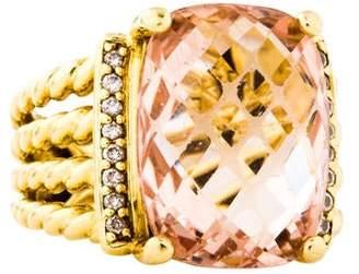 David Yurman 18K Morganite & Diamond Wheaton Cocktail Ring