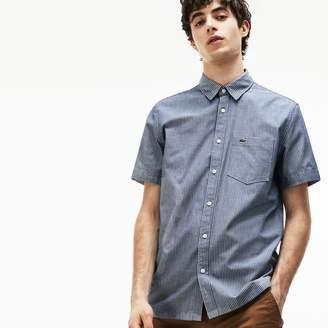 Lacoste Men's Regular Fit Striped Cotton Canvas Shirt