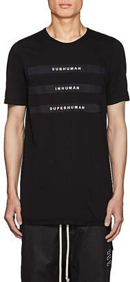 Rick Owens Men's Appliquéd Cotton Jersey T-Shirt