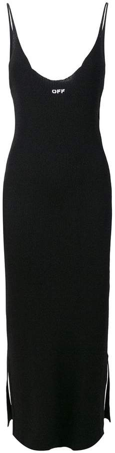 Off-White ribbed dress