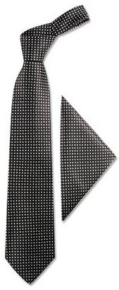 Forzieri Polkadots Silk Tie & Pocket Square