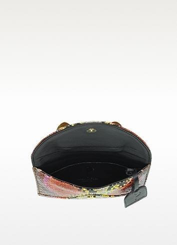 Maison Du Posh Python Leather Knuckle Mini Clutch