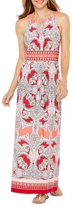 Studio 1 Sleeveless Puff Print Paisley Maxi Dress