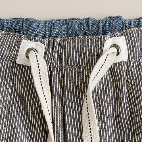 Boys' railroad-stripe beach short