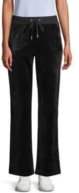 Juicy Couture Foil Logo Velvet Sweatpants