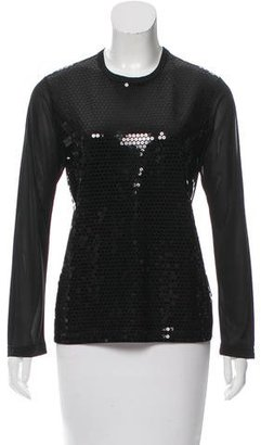 Junya Watanabe Sequin Long Sleeve Top $70 thestylecure.com
