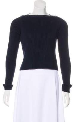 Alexander Wang Rib Knit Long Sleeve Sweatshirt