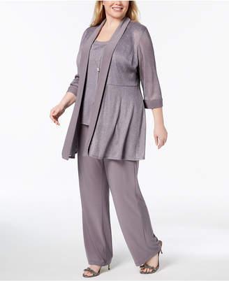 R & M Richards Plus Size 3-Pc. Embellished Pantsuit