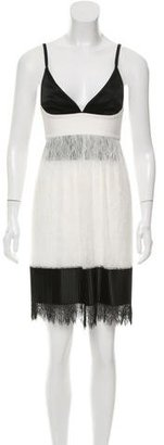 La Perla Pleated Lace Dress w/ Tags $475 thestylecure.com