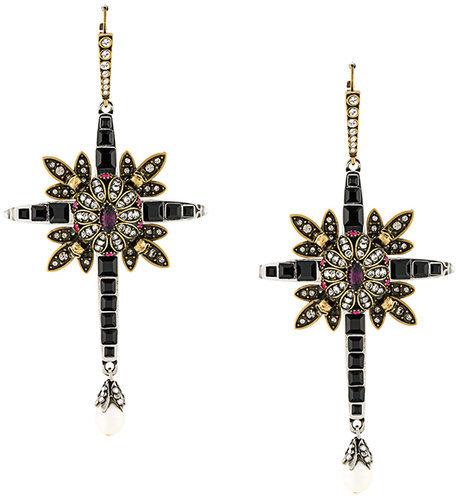 Alexander McQueenAlexander McQueen jewel cross earrings