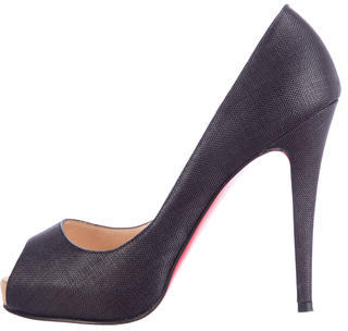 Christian Louboutin Canvas Very Prive Pumps $375 thestylecure.com
