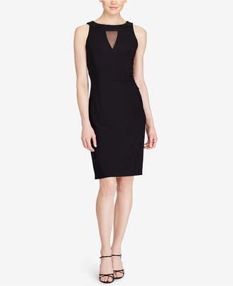 American Living Embellished Illusion-Neck Sheath Dress $89 thestylecure.com