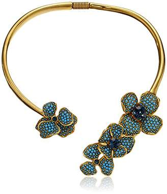 Kenneth Jay Lane Gold-Plated Beaded Floral Collar Necklace