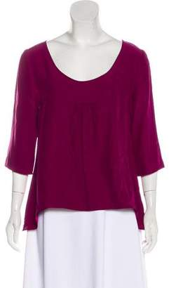 Loeffler Randall Silk Scoop Neck Top
