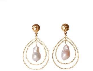 Christina Greene - Teardrop Earrings in Pearl