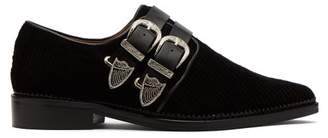 Toga - Corduroy Double Buckle Loafers - Womens - Black