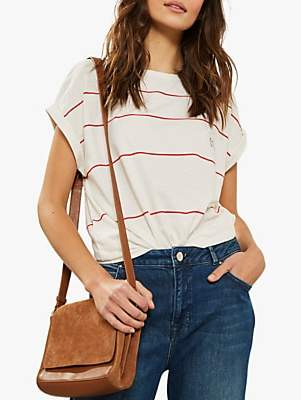 Mint Velvet Oh Ok Logo Striped Cotton Top