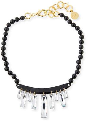 NEST Jewelry Crystal Drop Statement Choker Necklace