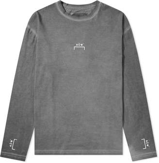 A-Cold-Wall* A Cold Wall* Long Sleeve Bracket Logo Coated Tee