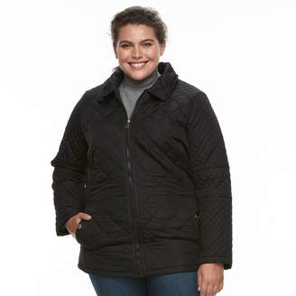 KC Collections Plus Size Lined Quilted Jacket
