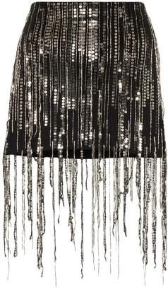 Faith Connexion sequin fringed mini skirt