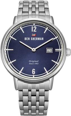Ben Sherman Men's 'The Dylan Social' Quartz Stainless Steel Casual Watch, Color Silver-Toned (Model: WBS101USM)