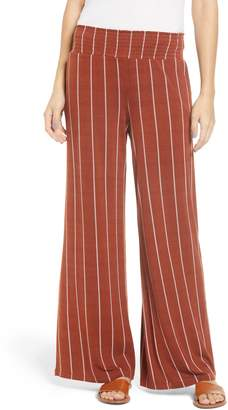 Love, Fire Stripe Knit Wide Leg Pants