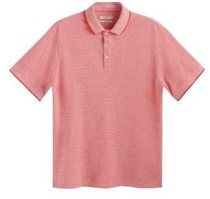 Mango Man MANGO MAN Contrast-edge cotton polo shirt