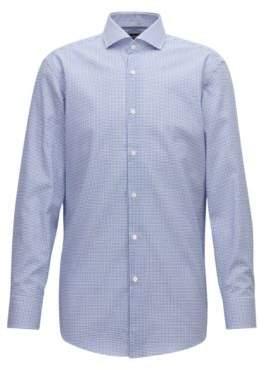 BOSS Hugo Slim-fit shirt in easy-iron checked cotton poplin 15.5/R Open Blue