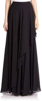 Teri Jon Chiffon Asymmetrical Maxi Skirt