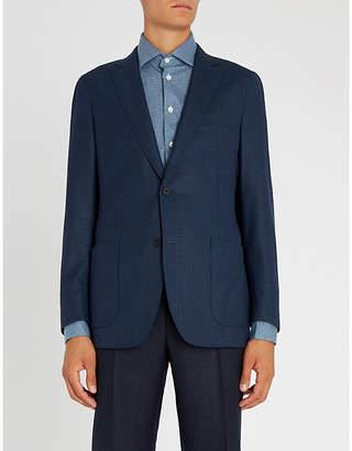 Richard James Basketweave slim-fit wool jacket