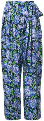 Vika Gazinskaya floral print high-waisted trousers
