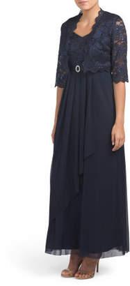Petite Lace Jacket Dress