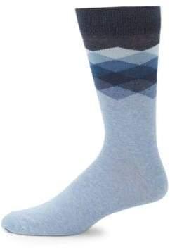 Saks Fifth Avenue Geometric Mid-Calf Socks