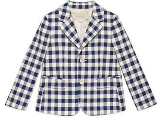 Gucci Children's check cotton jacket