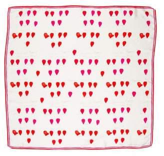 Alexander McQueen Silk Heart Print Scarf