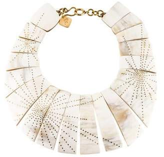 Ashley Pittman Horn Bib Collar Necklace