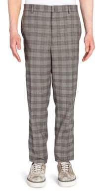 Lanvin Riveted Prince of Wales Wool Pants