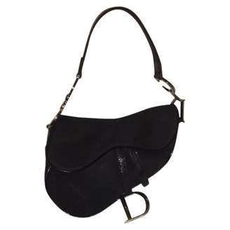 Pre-Owned at Vestiaire Collective · Christian Dior Vintage Saddle Black  Cloth Handbag 0c373fb49e0d0