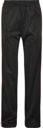 Givenchy - Striped Satin-jersey Track Pants - Black $1,095 thestylecure.com