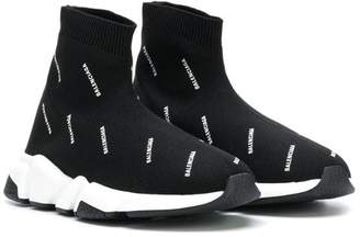 Balenciaga Kids Speed logo sock sneakers